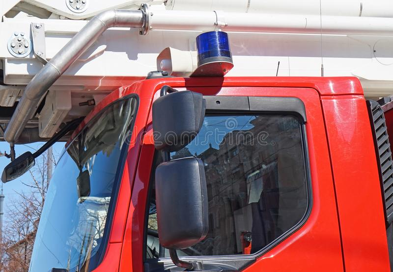 Sirene van een brandbestrijdersvrachtwagen stock foto's