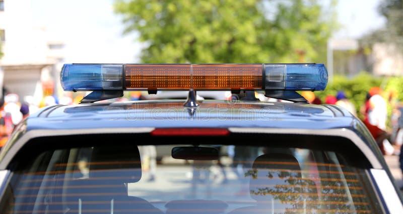 Sirene van een politiewagen stock foto
