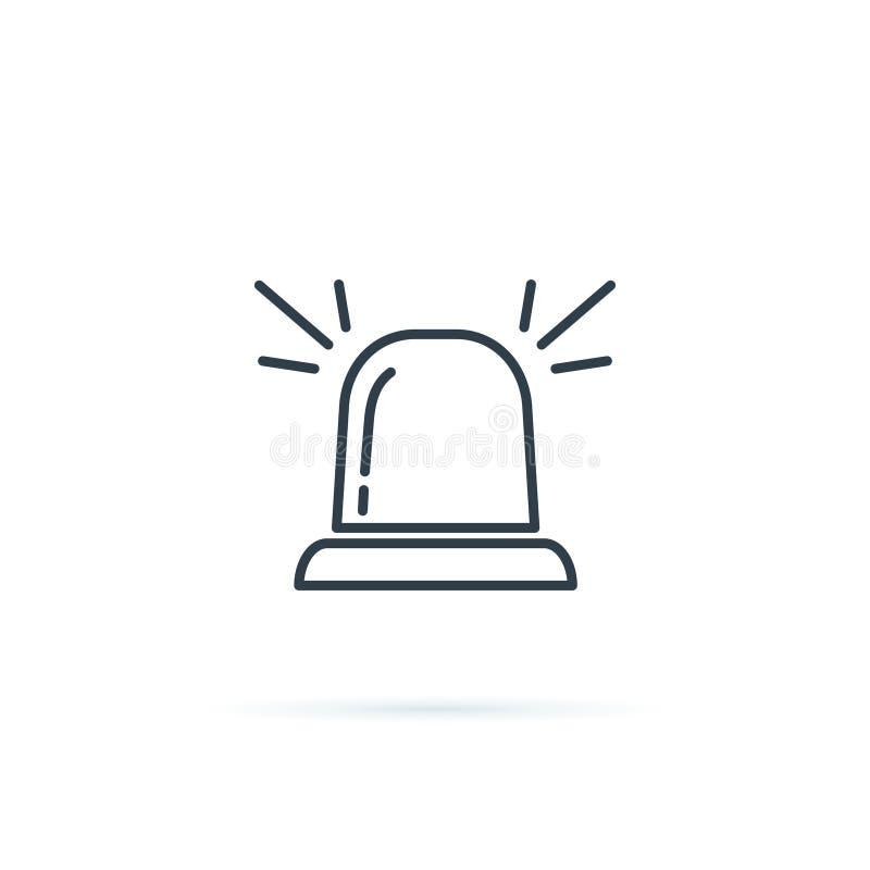 Sirenenikonensymbol Dringlichkeit, Notkonzeptzeichen mit Warnungstaschenlampe Embulance-Ausrüstungsikone Sicherheitsalarm vektor abbildung
