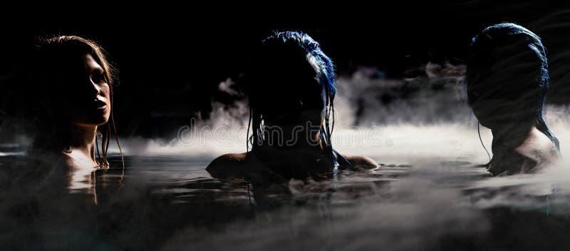 Sirenes da noite imagem de stock