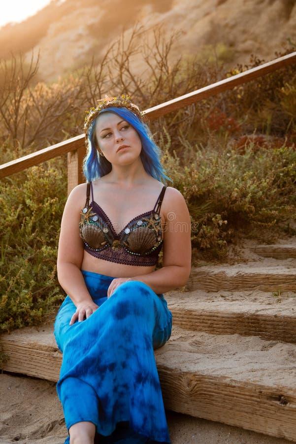 Sirenes do por do sol foto de stock royalty free