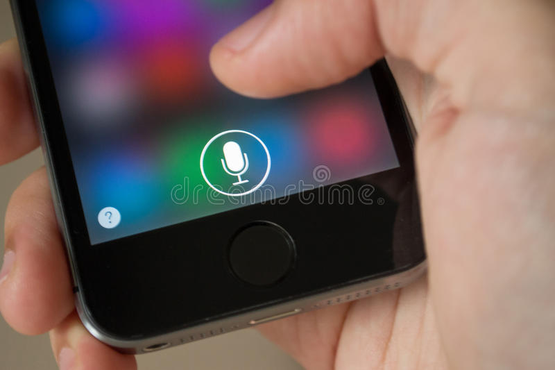 Siri immagine stock