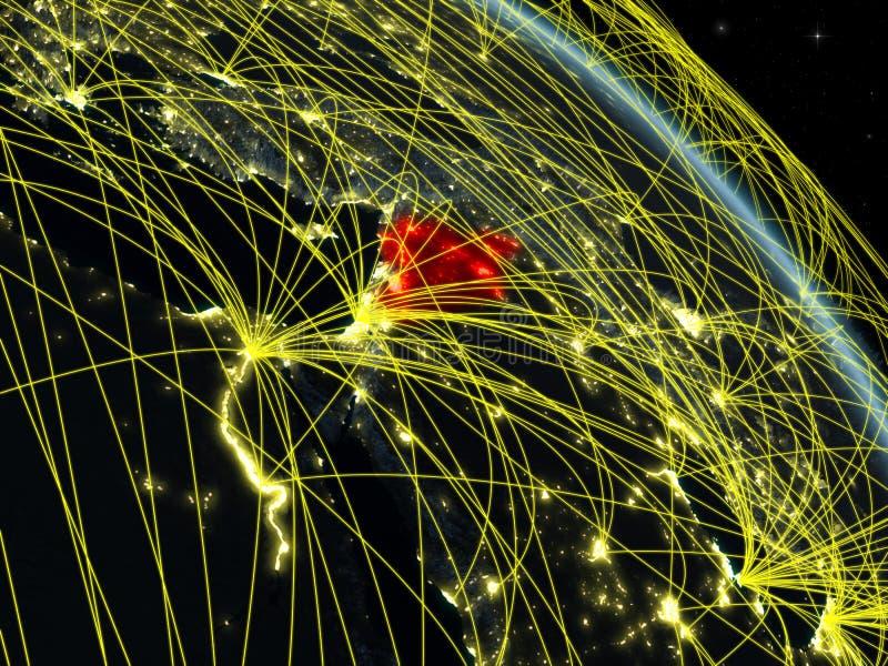 Siria del espacio con la red stock de ilustración