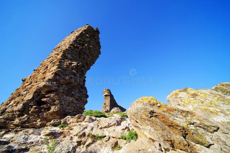 Siria Medieval Fortress em Arad County fotografia de stock royalty free