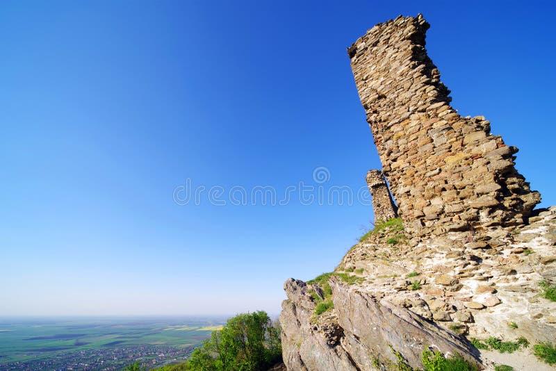 Siria Medieval Fortress em Arad County foto de stock