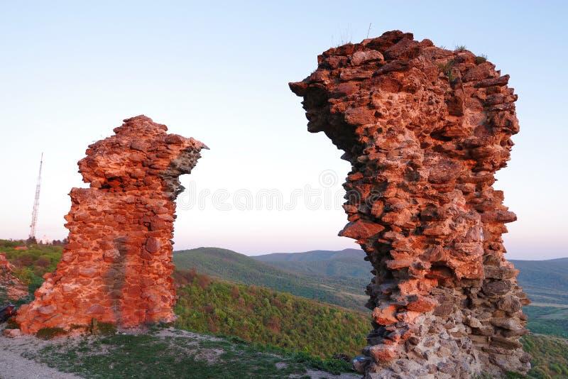 Siria Medieval Fortress em Arad County fotografia de stock