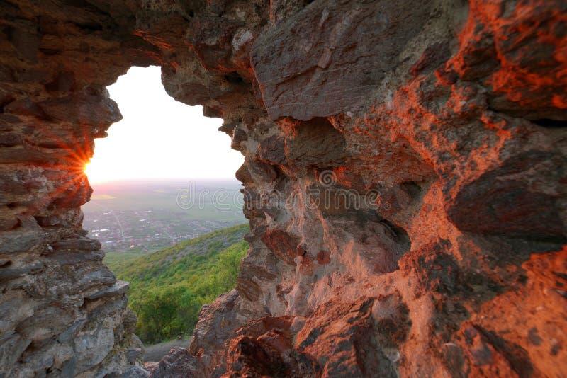 Siria Medieval Fortress em Arad County imagem de stock royalty free