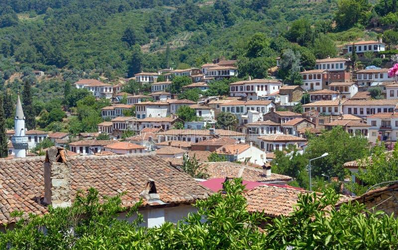 Sirince村庄,伊兹密尔省,土耳其看法  库存图片