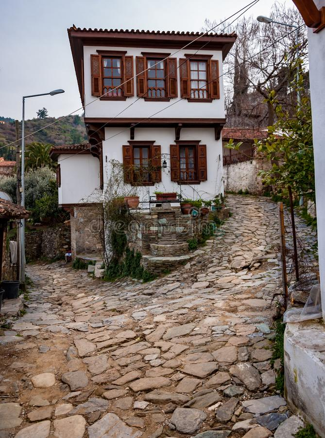 Sirince village and old traditional village houses, Selcuk, Izmir, Turkey stock photography