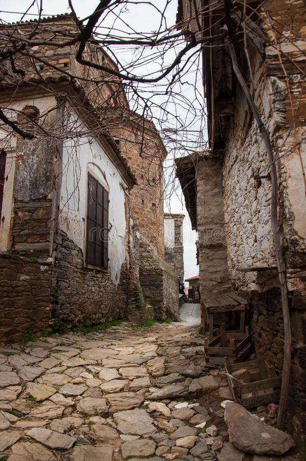 Sirince village and old traditional village houses, Selcuk, Izmir, Turkey royalty free stock photo