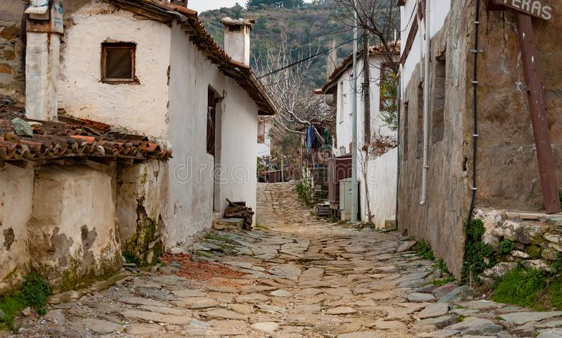 Sirince village and old traditional village houses, Selcuk, Izmir, Turkey royalty free stock image