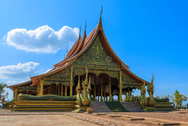 Sirindhornwararam thaïlandais Wat Phu Prao de temple photo libre de droits