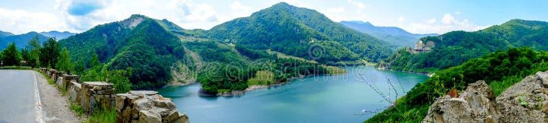 Siriu湖全景 免版税库存图片