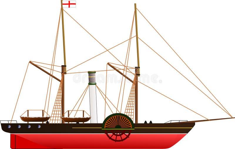 Sirius steamship royalty ilustracja