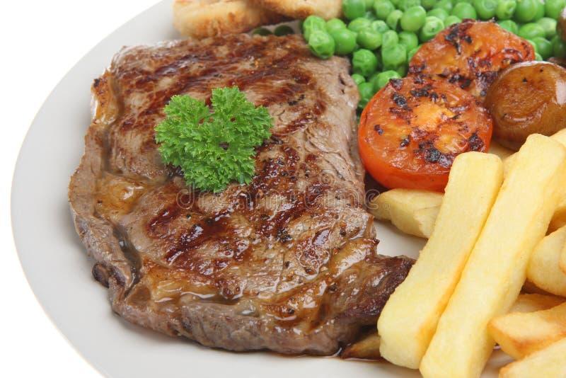 Sirloin Steak Dinner royalty free stock images