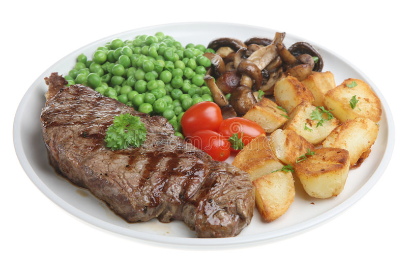 Sirloin Steak Dinner stock photos