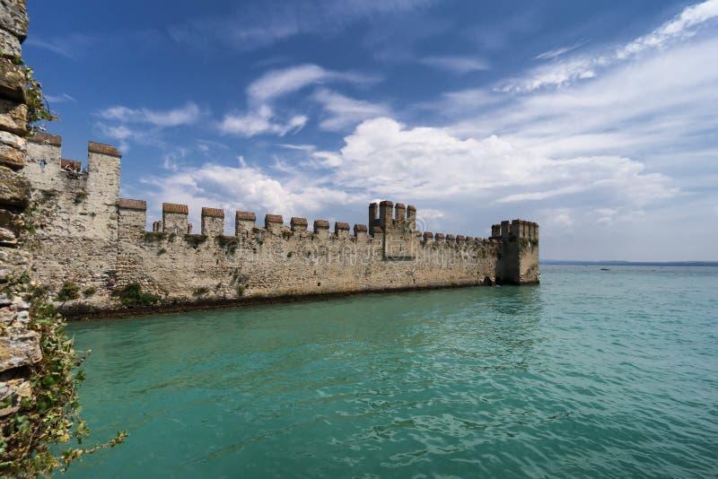 Sirmione加尔达湖意大利北部伦巴第 免版税库存照片