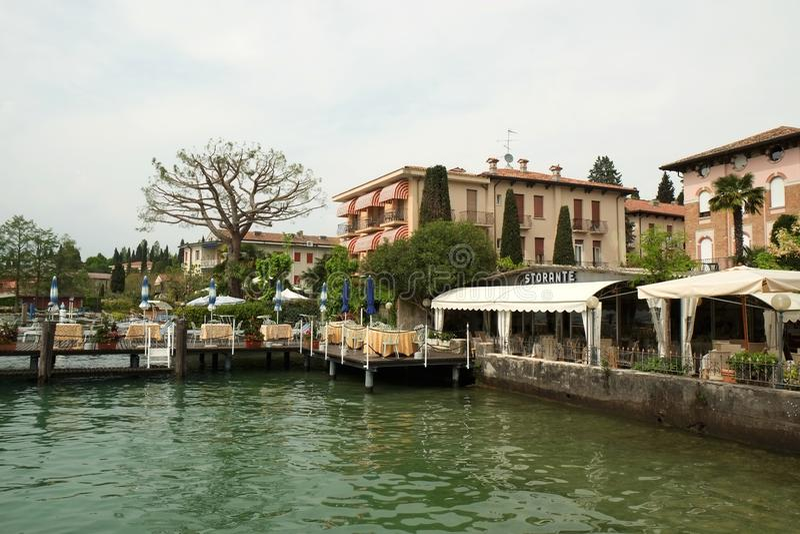 Sirmione and Garda lake, Italy. Sirmione city and Garda lake, Italy royalty free stock photos