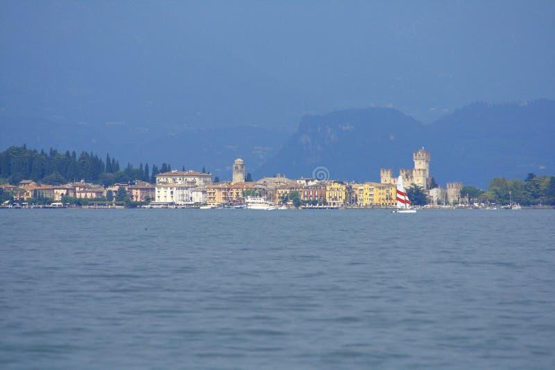 Sirmione Garda lake. Sirmione with Castle Garda lake Italy stock photography