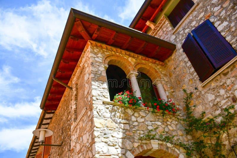 Sirmione on Garda lake Lago di Garda, Italy. Fortess in the old town Sirmione on Garda lake Lago di Garda stock images