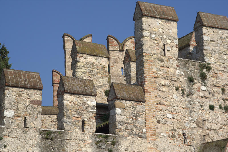 Download Sirmione (Italy) - Castle's Battlements Stock Image - Image: 13540107