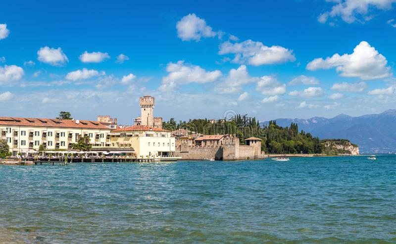 Sirmione on lake Garda. In a beautiful summer day, Italy stock images