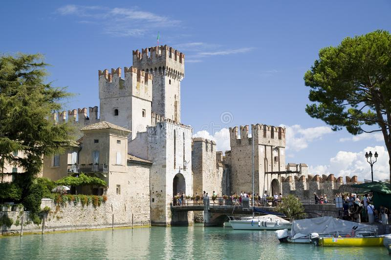 Sirmione, Lake Garda, Italy. View of Sirmione, Lake Garda, Lombardy, Italy stock photo