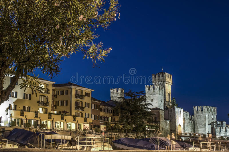 Sirmione by night stock photo