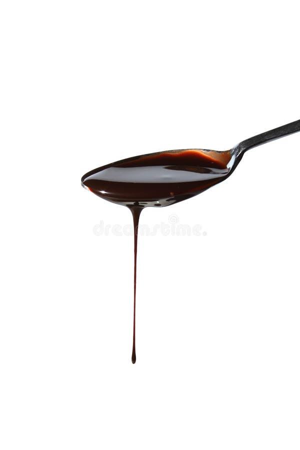 Sirop de chocolat image libre de droits