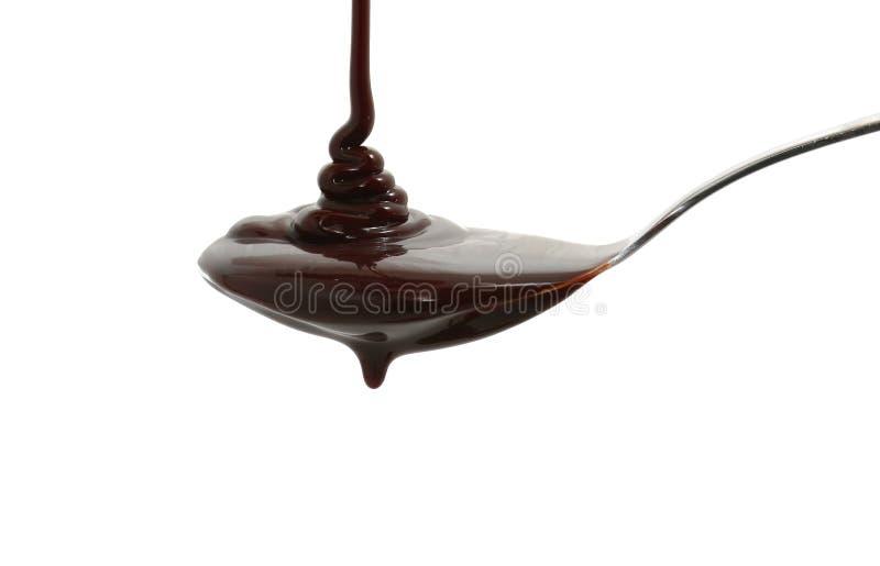 Sirop de chocolat image stock