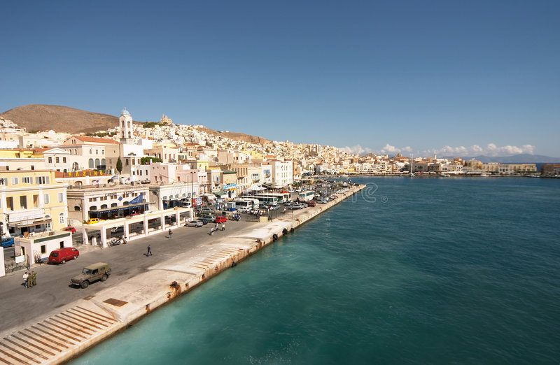 Siros, Greece stock images