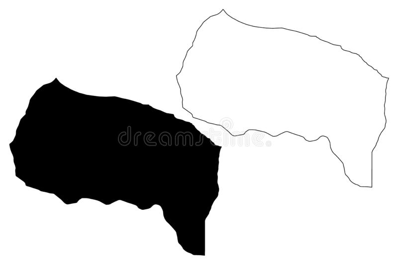 Sirte District Districts of Libya, State of Libya, Tripolitania map vector illustration, scribble sketch Sirte map.  vector illustration
