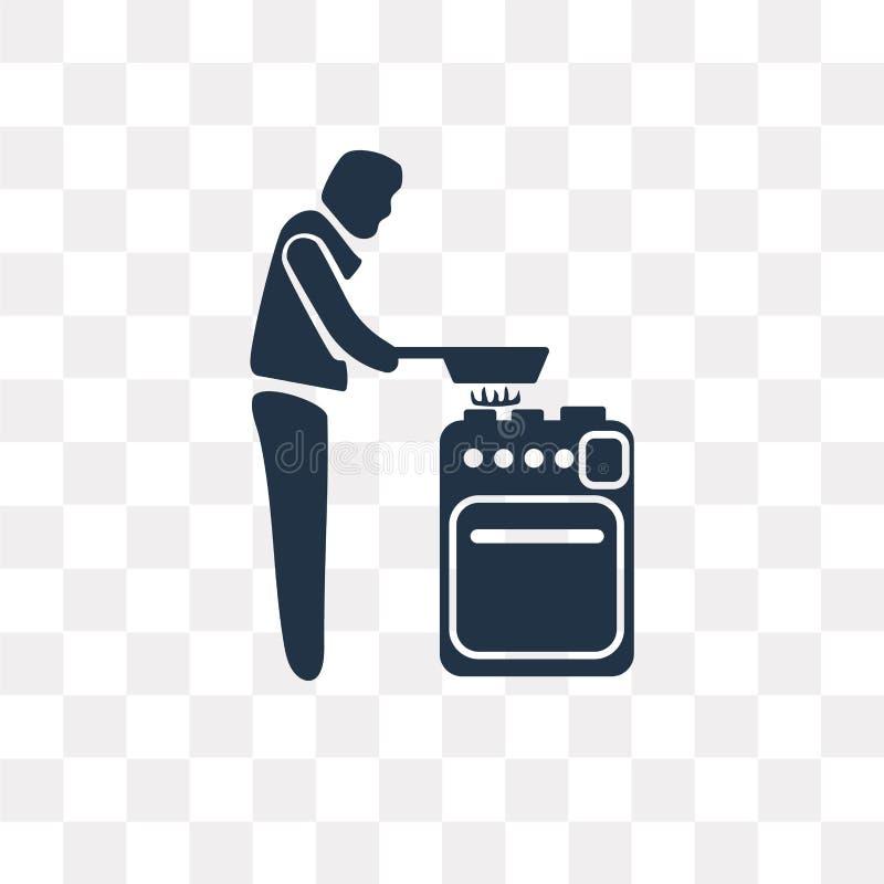 Sirva cocinar el icono del vector aislado en el fondo transparente, hombre libre illustration