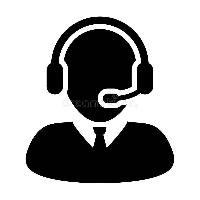 Sirva el ejemplo coloreado plano del símbolo del pictograma del vector del icono del servicio y atención del cuidado del cliente stock de ilustración