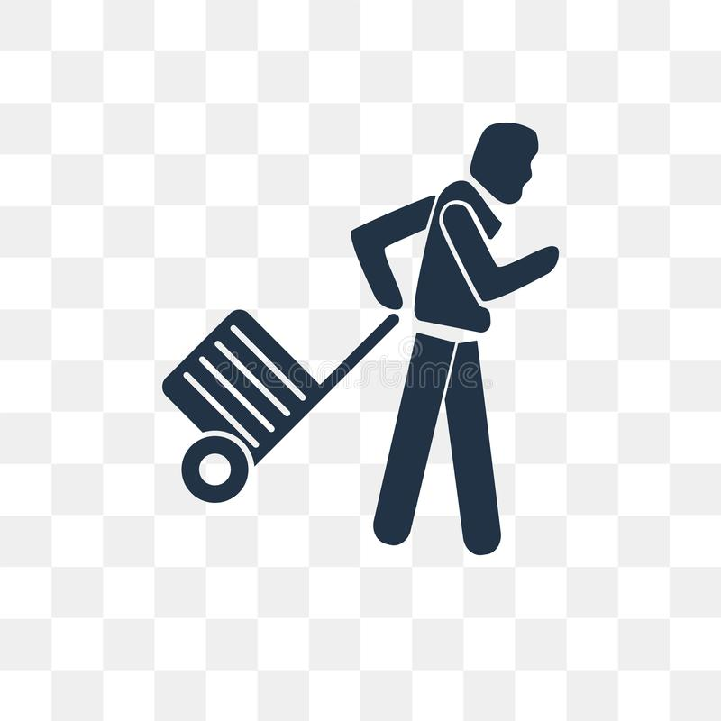 Sirva el icono del vector que viaja aislado en el fondo transparente, M libre illustration