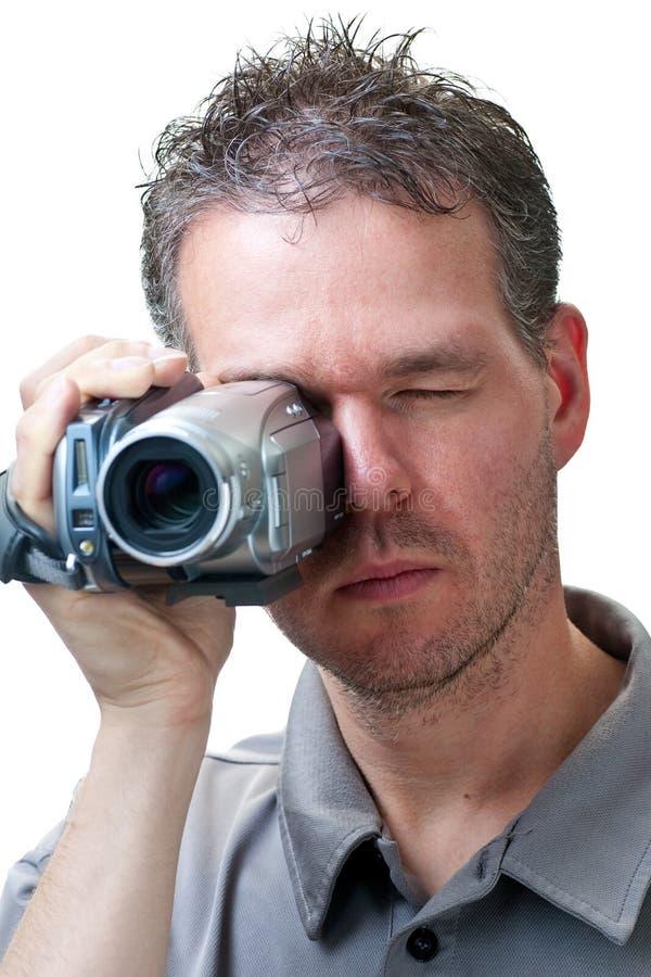 Sirva el shooting con una cámara de vídeo fotografía de archivo libre de regalías