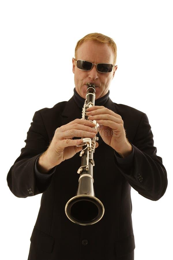 Sirva jugar el clarinet fotos de archivo libres de regalías
