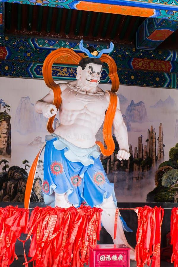 Sirva la estatua en el templo budista en la montaña de Tianmen imagen de archivo libre de regalías