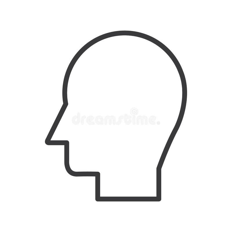 Sirva la línea principal icono, muestra, ejemplo del vector en el fondo, movimientos editable ilustración del vector