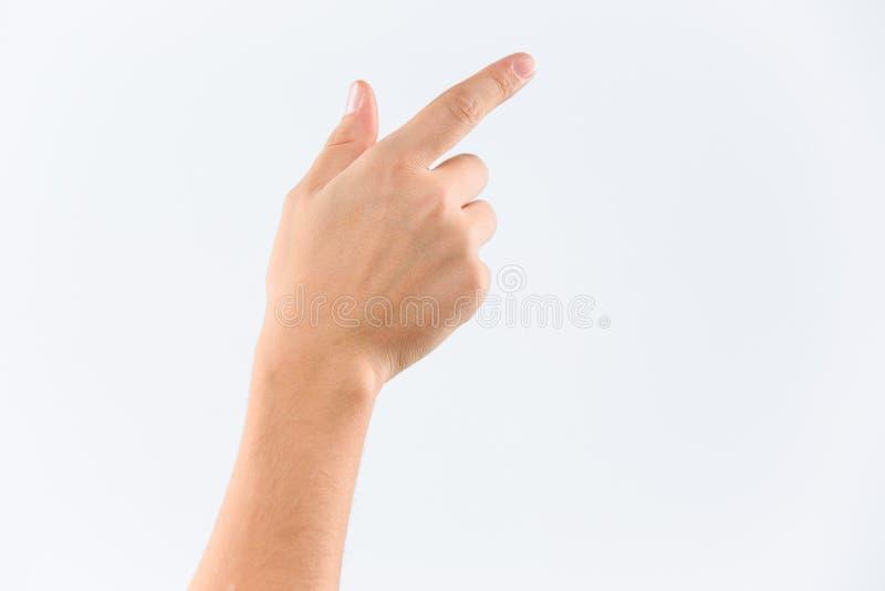 Sirva la mano del ` s aislada en el fondo blanco fotografía de archivo