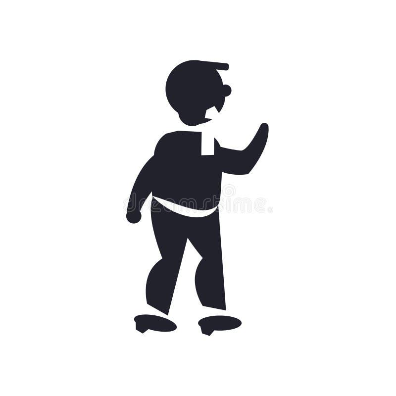 Sirva la muestra y el símbolo de perforación del vector del icono aislados en el backg blanco stock de ilustración