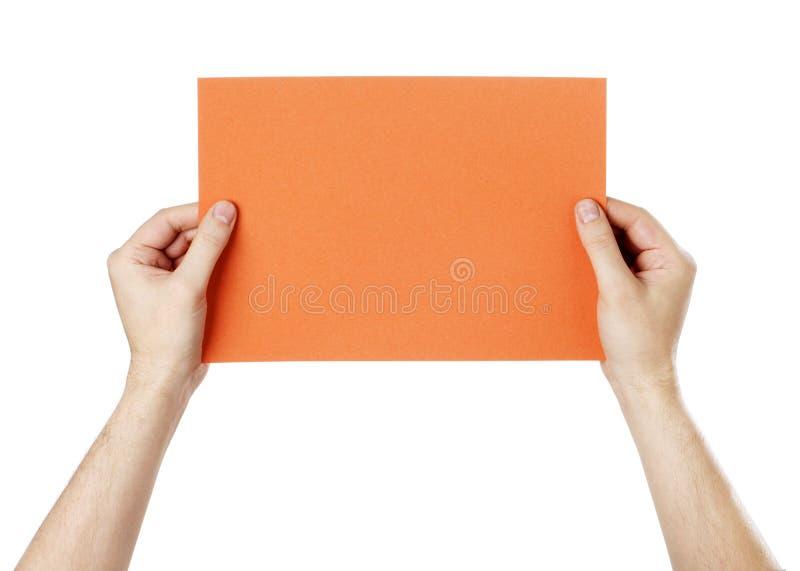 Mensaje anaranjado foto de archivo libre de regalías
