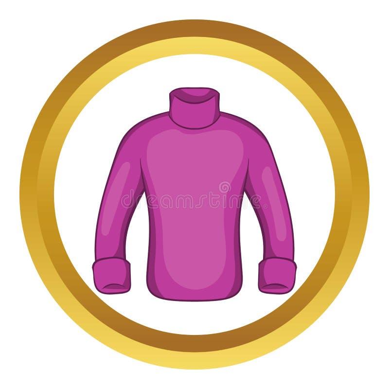 Sirve el icono del vector del suéter ilustración del vector