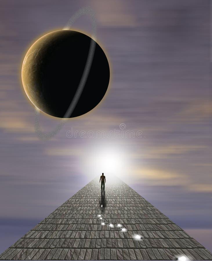 Sirve el viaje del alma stock de ilustración