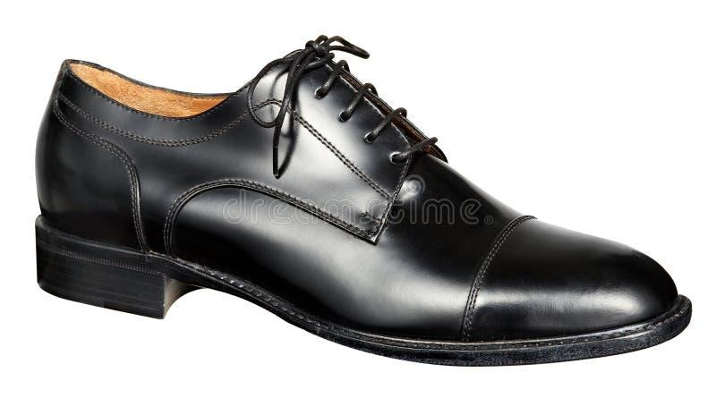 Sirve el zapato de cuero negro fotos de archivo
