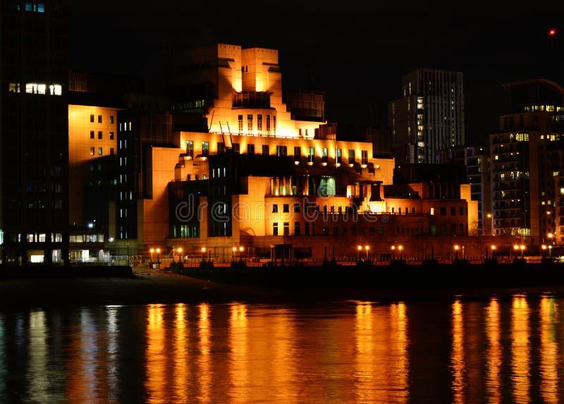 SIS Headquarters à la croix de Vauxhall, Londres images libres de droits