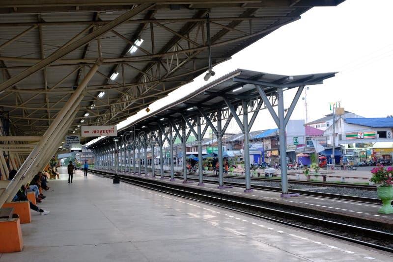 Sisaket stacja kolejowa w dniu powszednim zdjęcia royalty free
