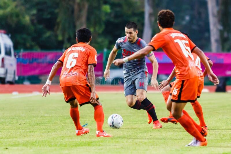 SISAKET THAILAND-JUNE 29: Romain Gasmi Of Bangkok Utd. (grey) Editorial Stock Image