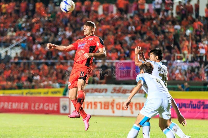 SISAKET 20 THAILAND-SEPTEMBER: Mohsen Bayatinia van Sisaket FC ( royalty-vrije stock foto's