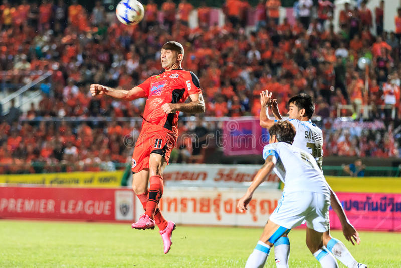 SISAKET THAILAND 20. SEPTEMBER: Mohsen Bayatinia von Sisaket FC ( lizenzfreie stockfotos
